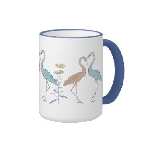 Mug Cup Red Love Birds Floral Mugs