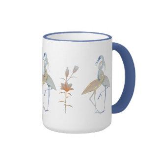 Mug Cup Red Love Birds Floral 2 Mug
