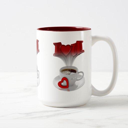 Mug Cup Red Love Hearts Love Coffee Mug
