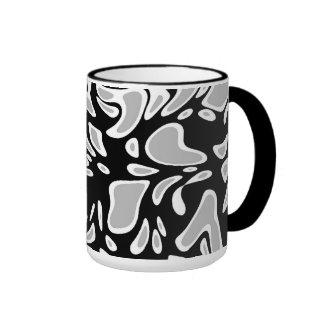 Mug Cup Zizzago Black Grey Blots Coffee Mugs