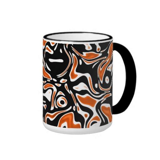 Mug Cup Zizzago Black Orange Blots Coffee Mugs