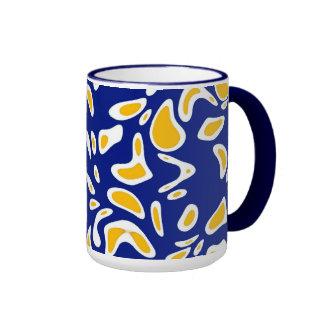 Mug Cup Zizzago Blue Yellow Blots Coffee Mugs