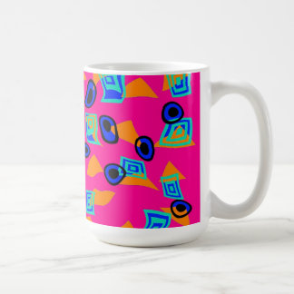 Mug Cup Zizzago Retro Bright Pink Discs