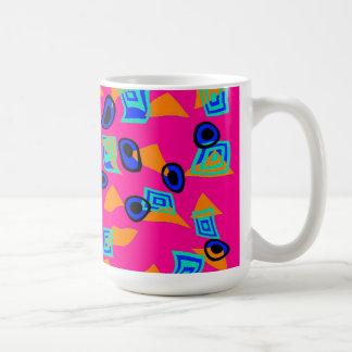 Mug Cup Zizzago Retro Bright Pink Discs Mugs