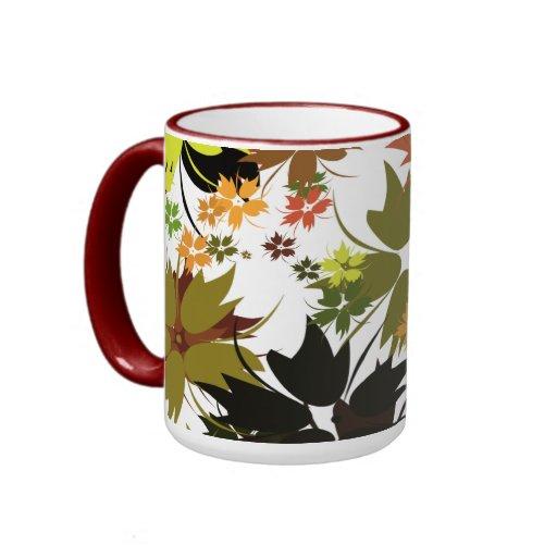 Mug Cup ZIZZAGO Retro Floral Coffee Mugs
