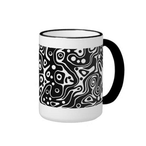 Mug Cup Zizzago Wild Black White Coffee Mugs