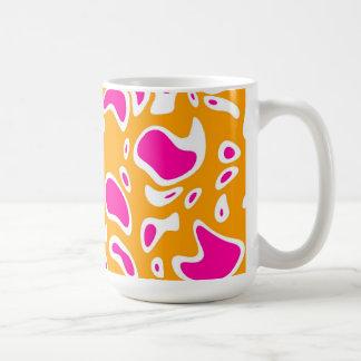 Mug Cup Zizzago Yellow Pink Blots Mug