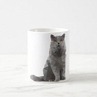mug - deconstructed design - British shorthair cat