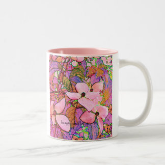 Mug-Dogwoods Two-Tone Coffee Mug
