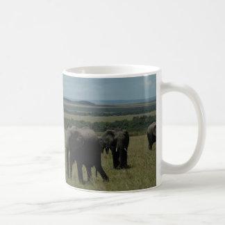 Mug Elephant herd Maasai Mara, Kenya