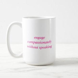 Mug - engage compassion - pink
