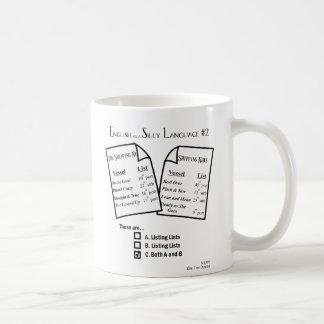 "Mug ""English as a Silly Language #2"" Listing"