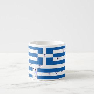 Mug Espresso  Greek Flag with Evzone's