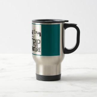 "Mug for travelers .. ""My trip, my advanture"""