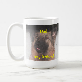 Mug German Shepherd Sticking Tongue Out Happy Bday