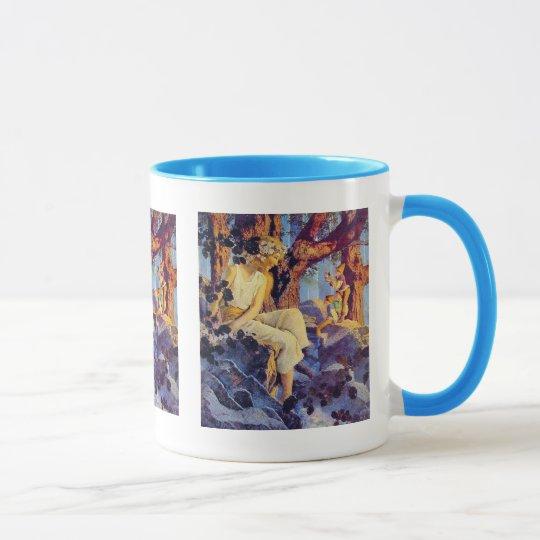 Mug:  Girl with Elves - by Maxfield Parrish Mug