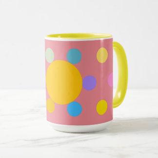 "Mug great model 2 colors, pink, ""Fleur Pastel """