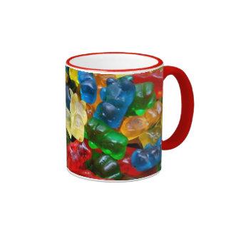 mug, gummy bears