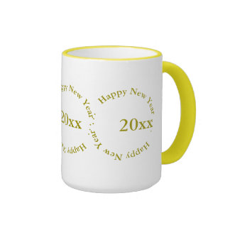 Mug - Happy New Year with Date (golden)