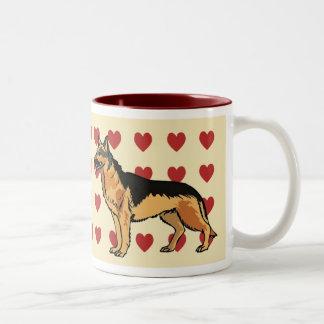 Mug - I love German Shepards