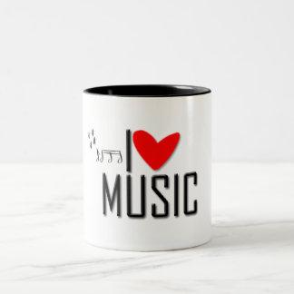 Mug - I love music