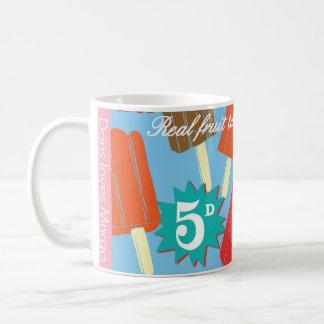 Mug, ice lollies vintage design. coffee mug