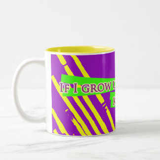 Mug: If I grow up to be normal, kill me. Two-Tone Coffee Mug
