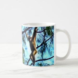 "Mug Illustration ""de gibbon accrochant"""