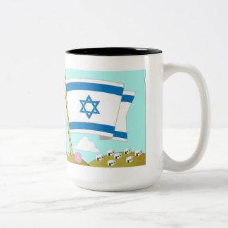 Mug inner color shalom Jerusalem