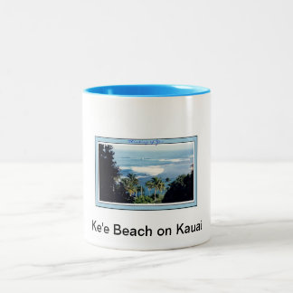 Mug-Kauai's Ke'e Beach Two-Tone Coffee Mug