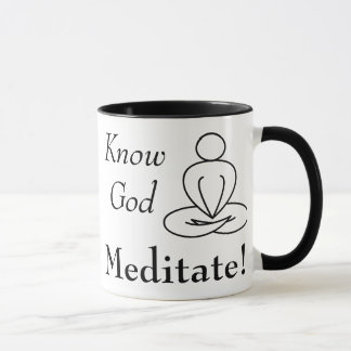 Mug - Know God, Meditate