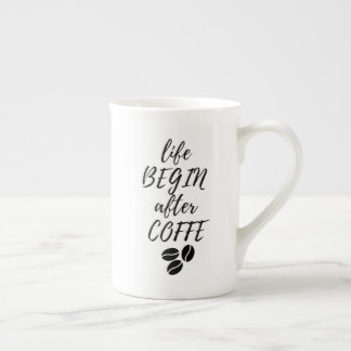 "Mug ""Life begin after Coffe"""