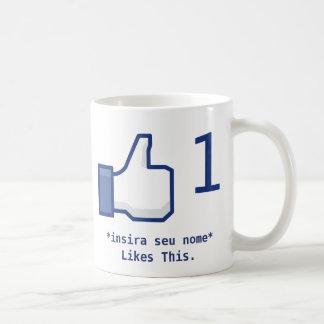 "Mug ""Likes This"" Facebook (Personalizável)"