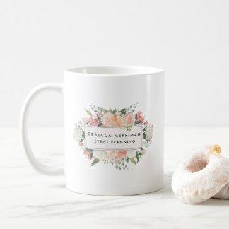 Mug Logo floral antique