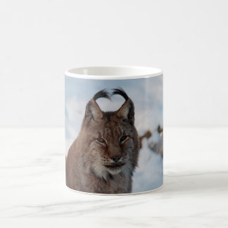 Mug: Lynx in snow Coffee Mug