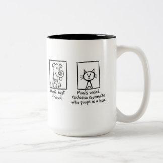 Mug, Man's Best Friend Two-Tone Coffee Mug