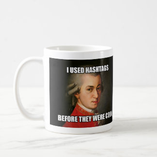 "Mug: ""Meme"" - Mozart Hashtags Coffee Mug"