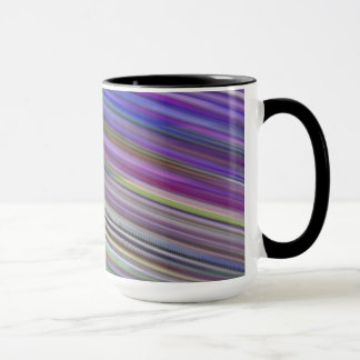 Mug. Multicoloured sweeping stripes. Mug