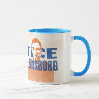 """Mug of Justice.  Ruth Bader """"Badass"""" Ginsburg"""