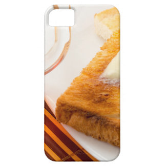 Mug of tea and hot toast with butter case for the iPhone 5