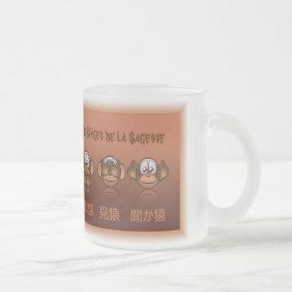 Mug or cup monkeys of wisdom