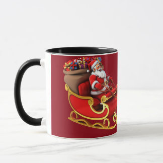 "Mug ""Papa Noel and its sleigh """