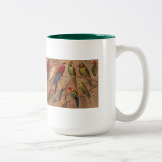Mug, Parrots Galore Two-Tone Coffee Mug
