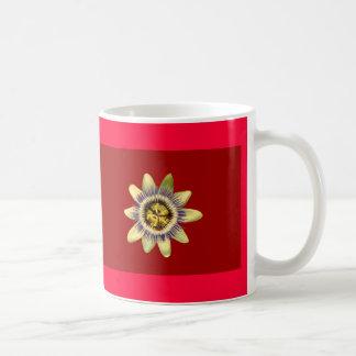 Mug, PASSION_FLOWER, dar red bkgrnd Coffee Mug