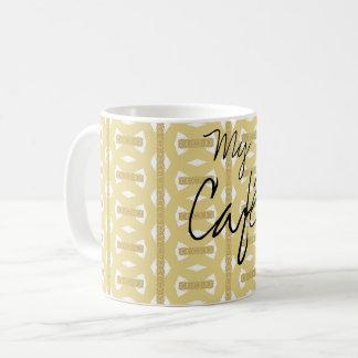 Mug Pattern Gold My Café