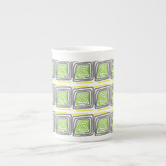 mug pattern gray and green colors