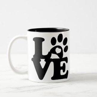 Mug Paws Print Heart - Paw Print  for DOG lovers