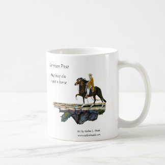 Mug, Peruvian Paso Horse & Rider on Mountain trail Coffee Mug