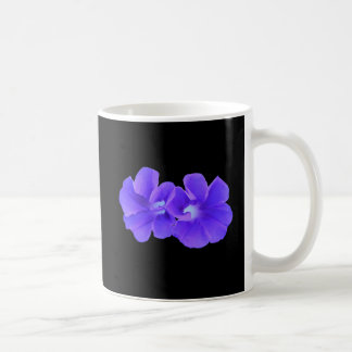 Mug, Purple Floating Morning Glories Coffee Mug