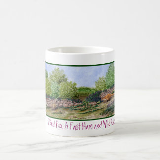 Mug- Red fox and Hare Watercolor Coffee Mug